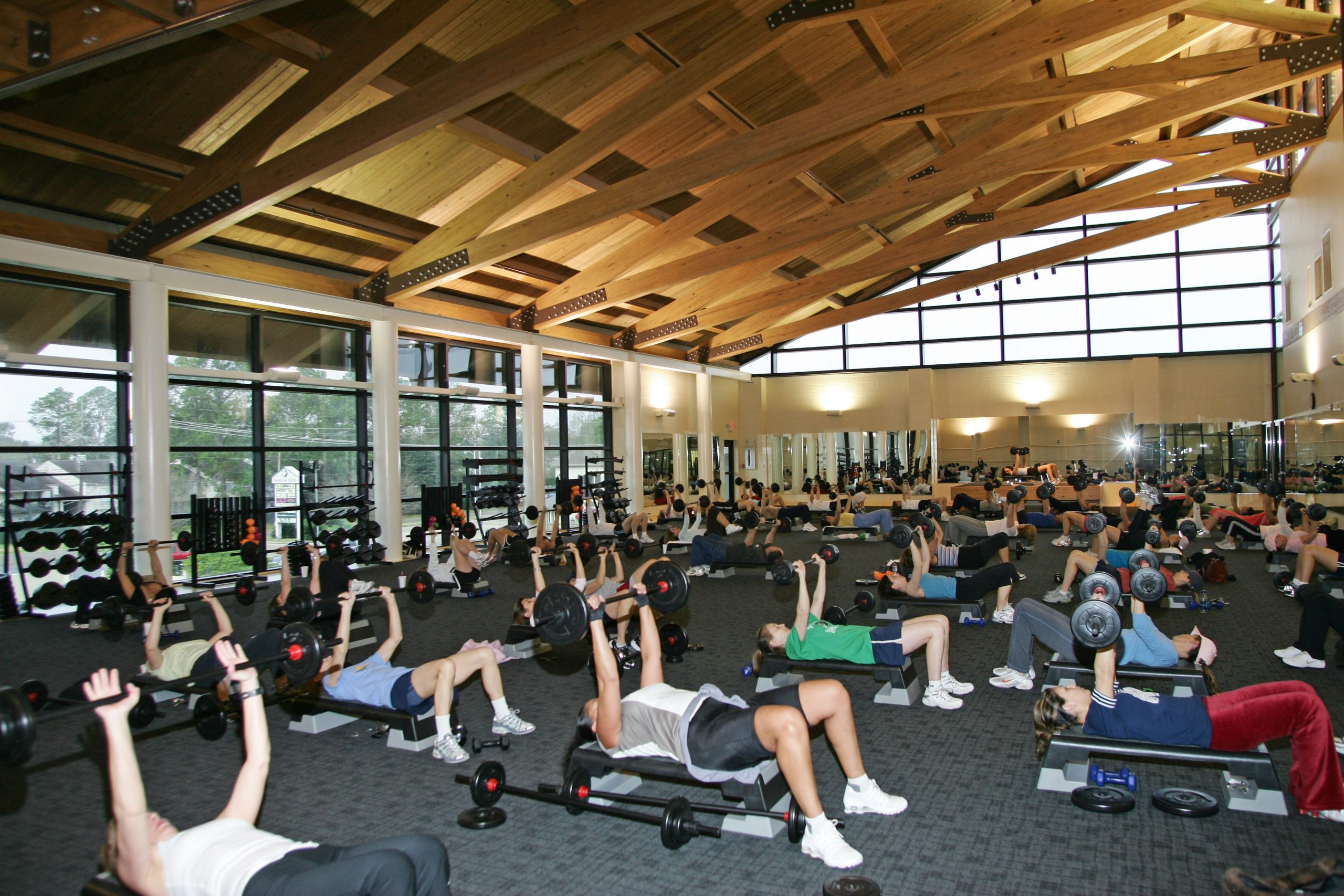 Studio A for group exercise at Red Lerille's Health & Racquet Club in Lafayette, LA