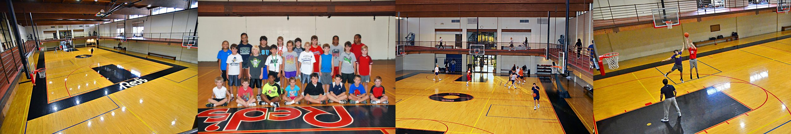 Collegiate basketball court at Red's in Lafayette, La