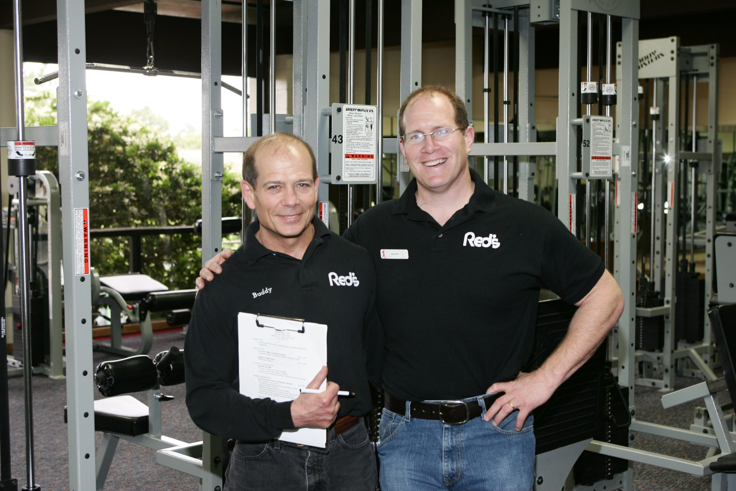 Buddy & Mark, Fitness Directors of Red's in Lafayette, La