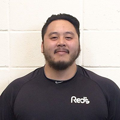 Kenny Vo, personal trainer and power lifter at Red's in Lafayette, LA.