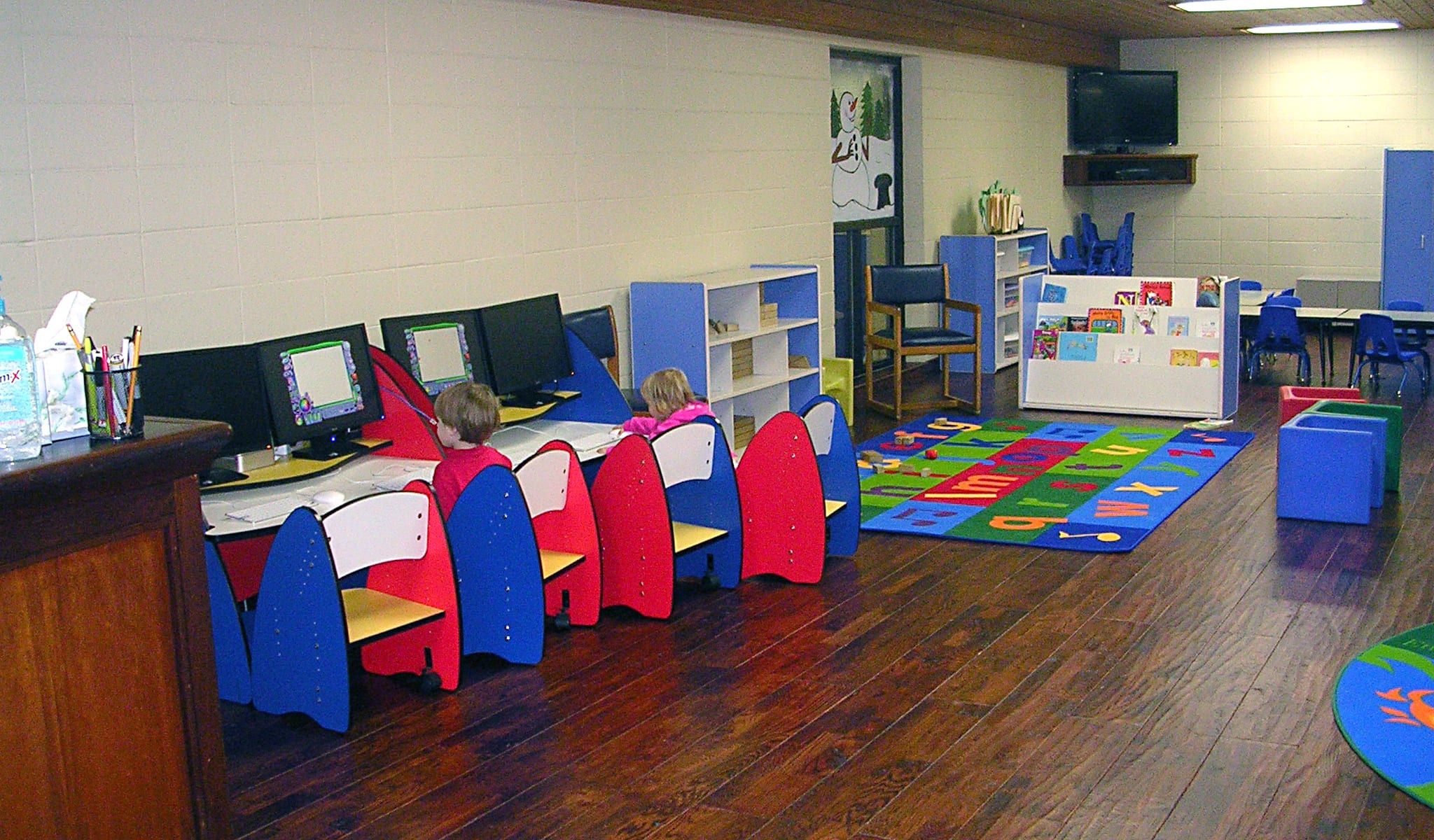 Kids computer stations in the Nursery in Red's in Lafayette, La