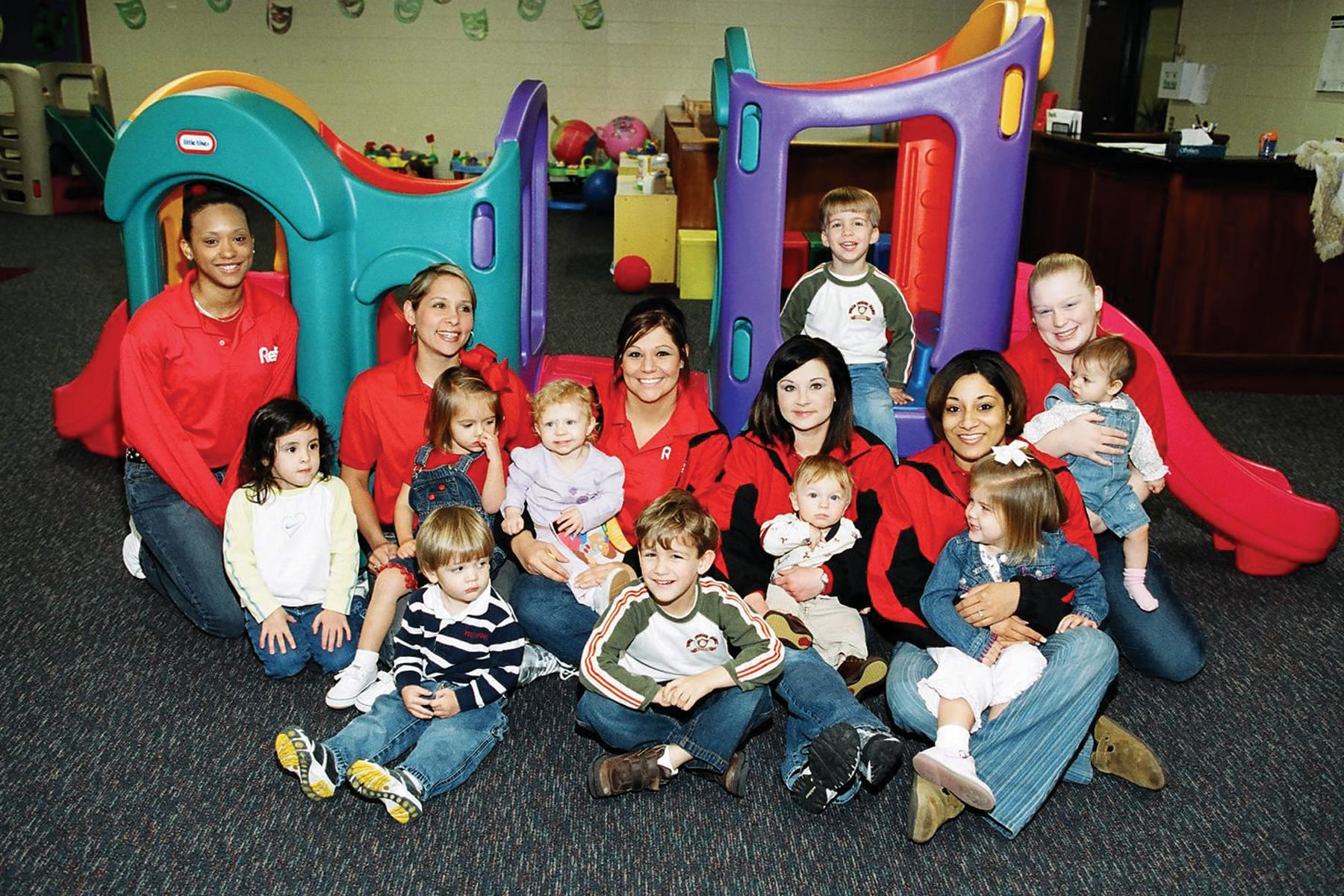 Old photo of kids in Nursery in Red's in Lafayette, La