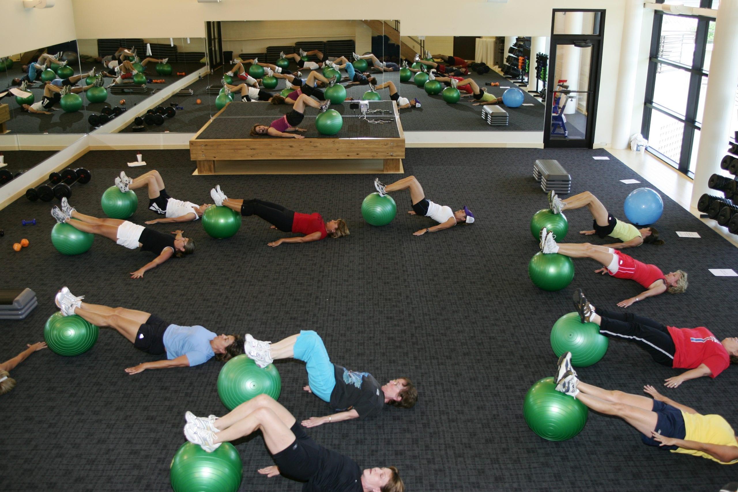 Studio B, smaller group fitness room in Red's in Lafayette, La