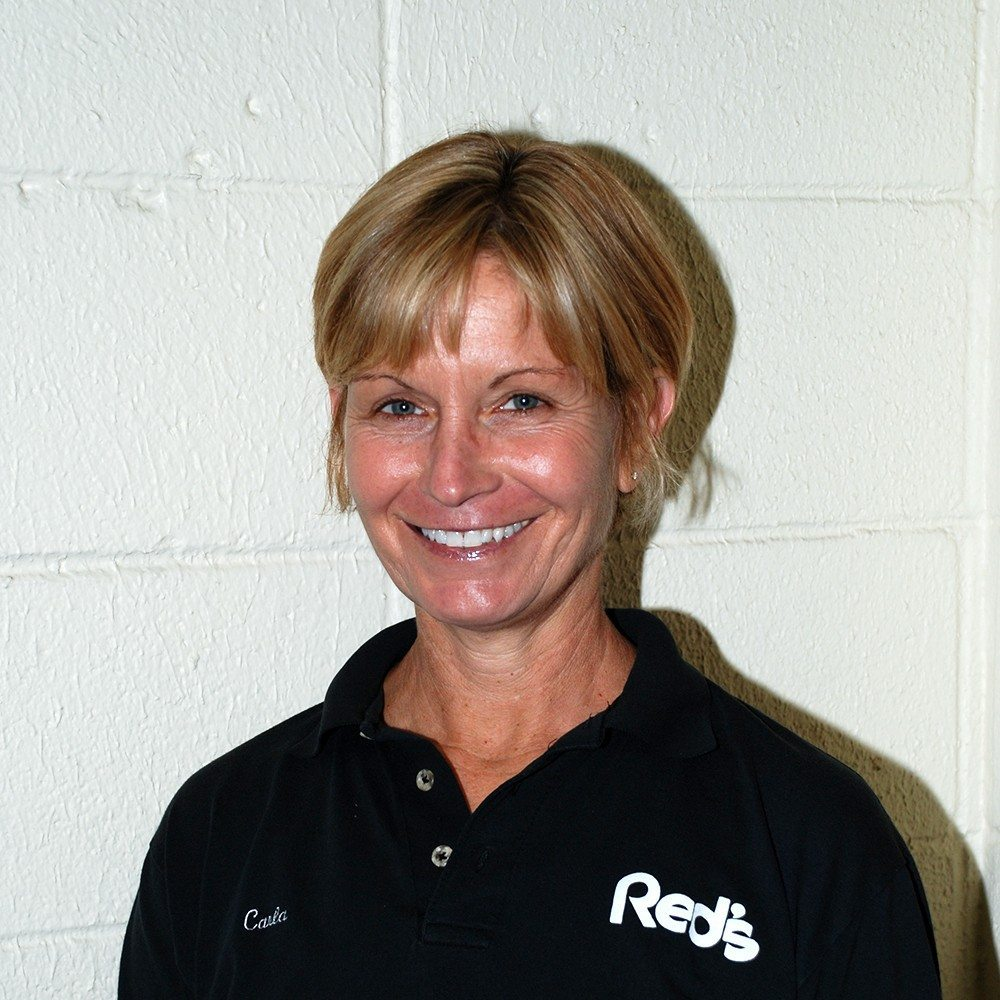 Carla Andrus, Front Desk/Pro Shop manager at Red's in Lafayette, LA.