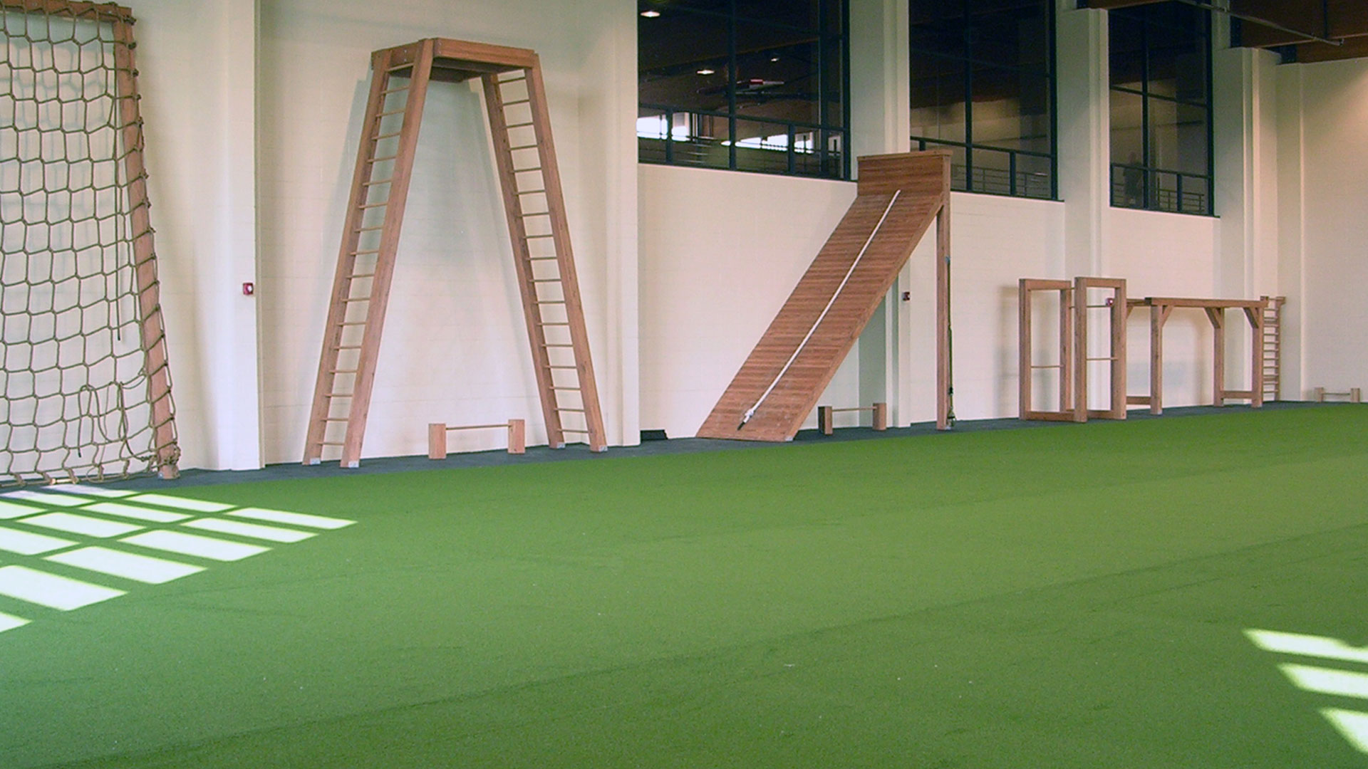 Indoor Boot Camp obstacle course at Red's in Lafayette, LA