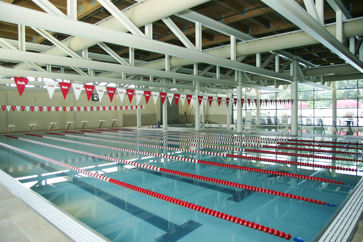 Indoor pool facility at Red Lerille's in Lafayette, LA