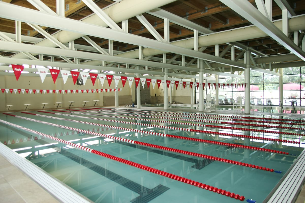 Indoor pool facility in Red's in Lafayette, La