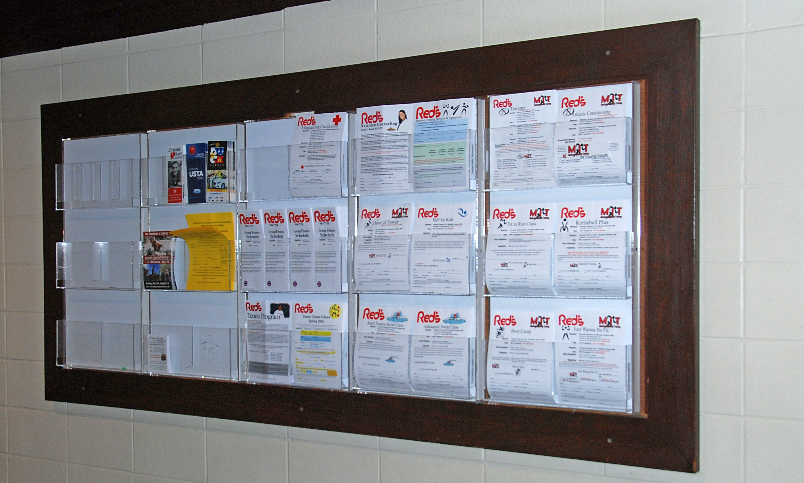 Registration forms for programs at Red's in Lafayette, LA.