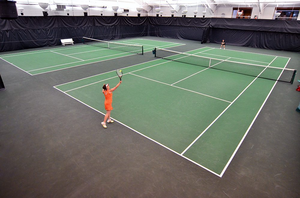 Indoor tennis courts at Red's in Lafayette, LA.