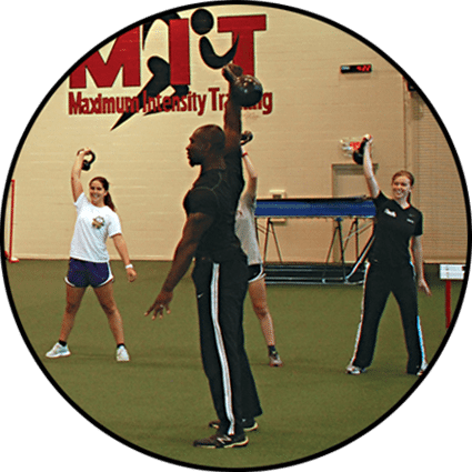Eugene, personal training, teaching a kettlebell class at Red's in Lafayette, LA.