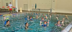 Water aerobics/wave class at Red's in Lafayette, La