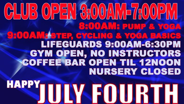 4th of July 2016 schedule at Red's in Lafayette, La