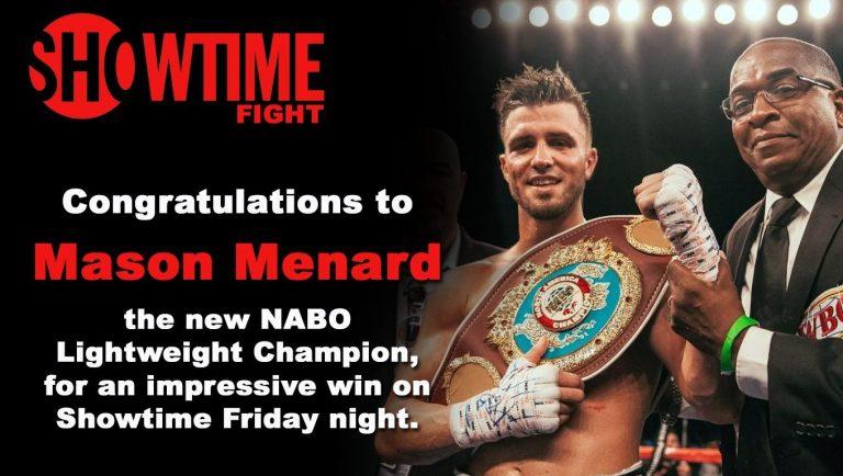 Mason Menard Wins NABO title.