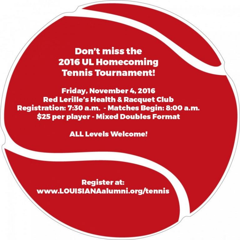 2016 UL Homecoming Tennis Tournament