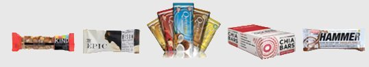 A variety of energy bars.