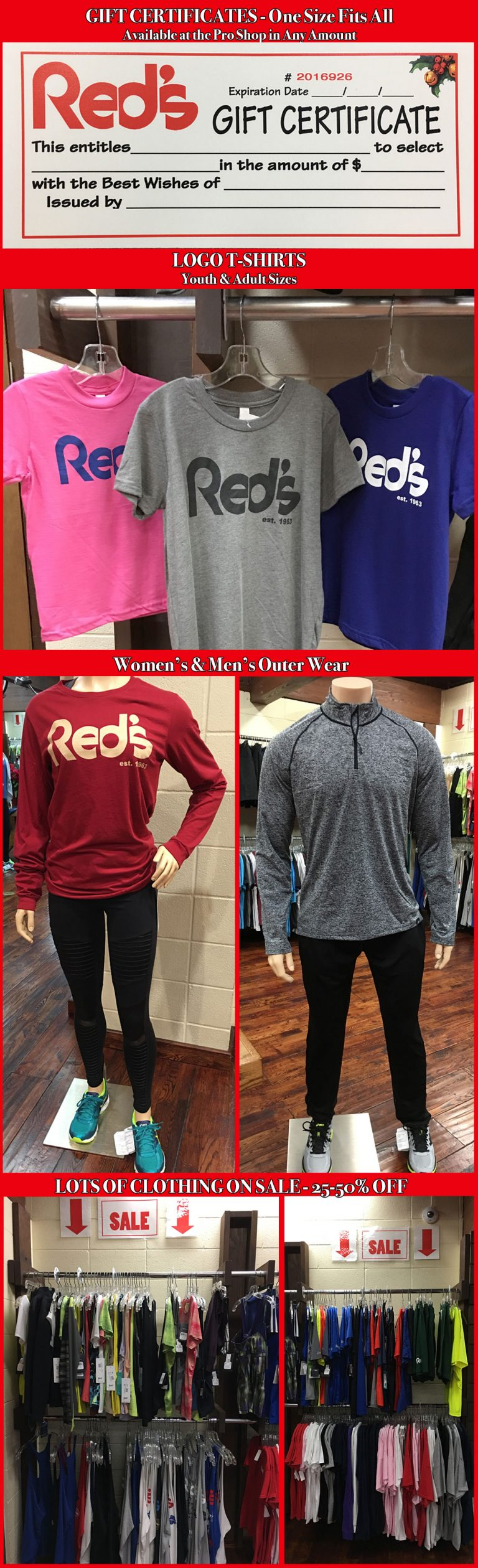 Gift Ideas at Red's