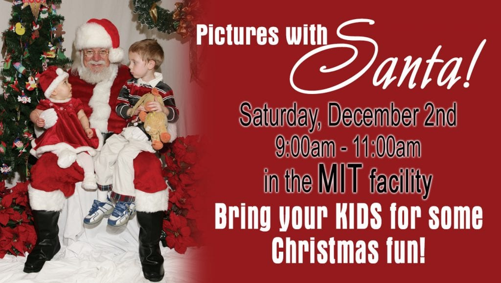 Pictures with Santa in the MIT facility.
