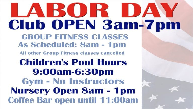 2018 Labor Day Schedule at Red's.