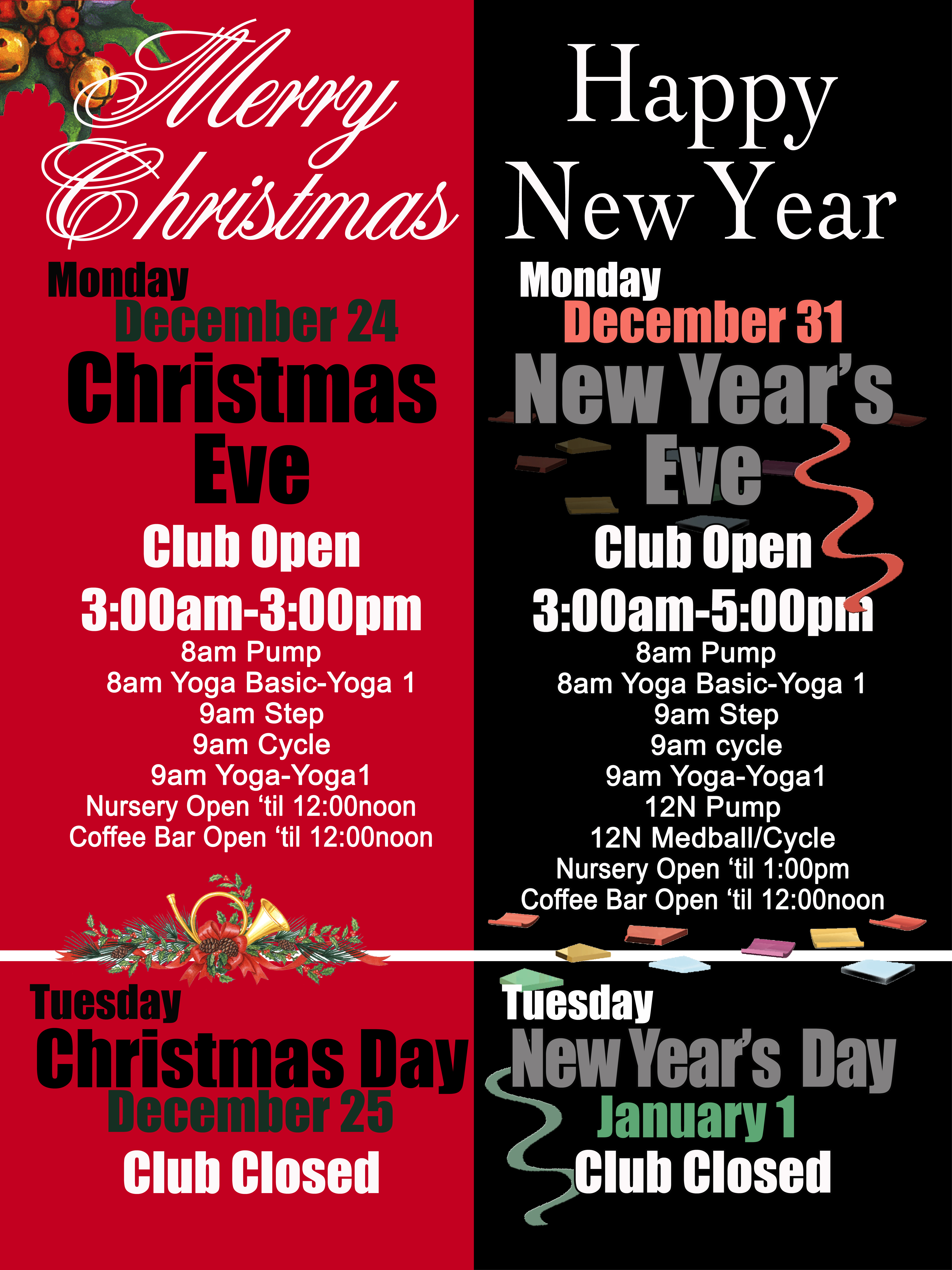 Holiday Schedule Red Lerilles