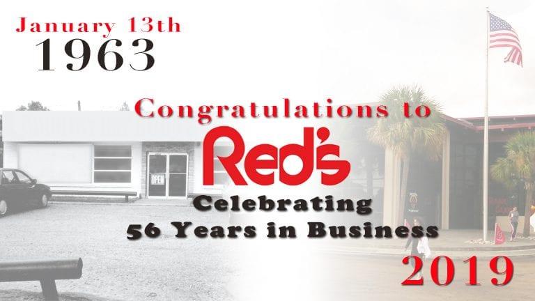 Red's celebrates 56 year anniversary!