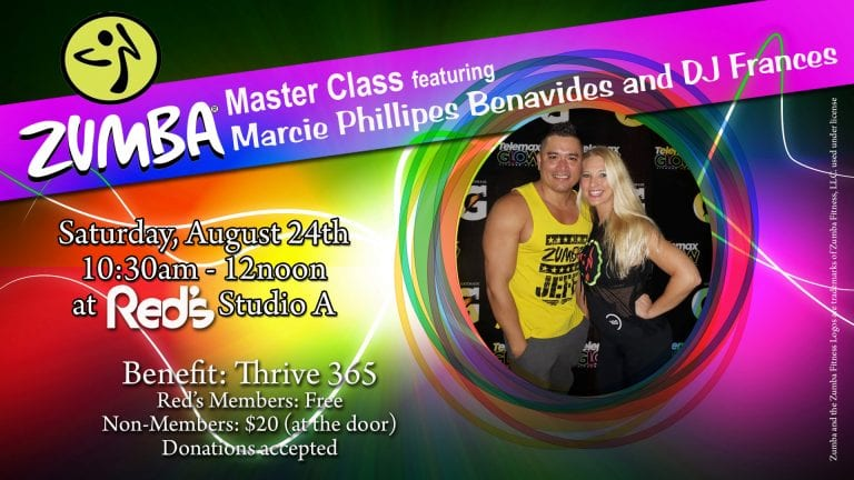 Zumba Master Class at Red's