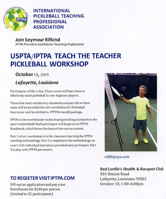 USPTA/IPTPA Teacher Workshop