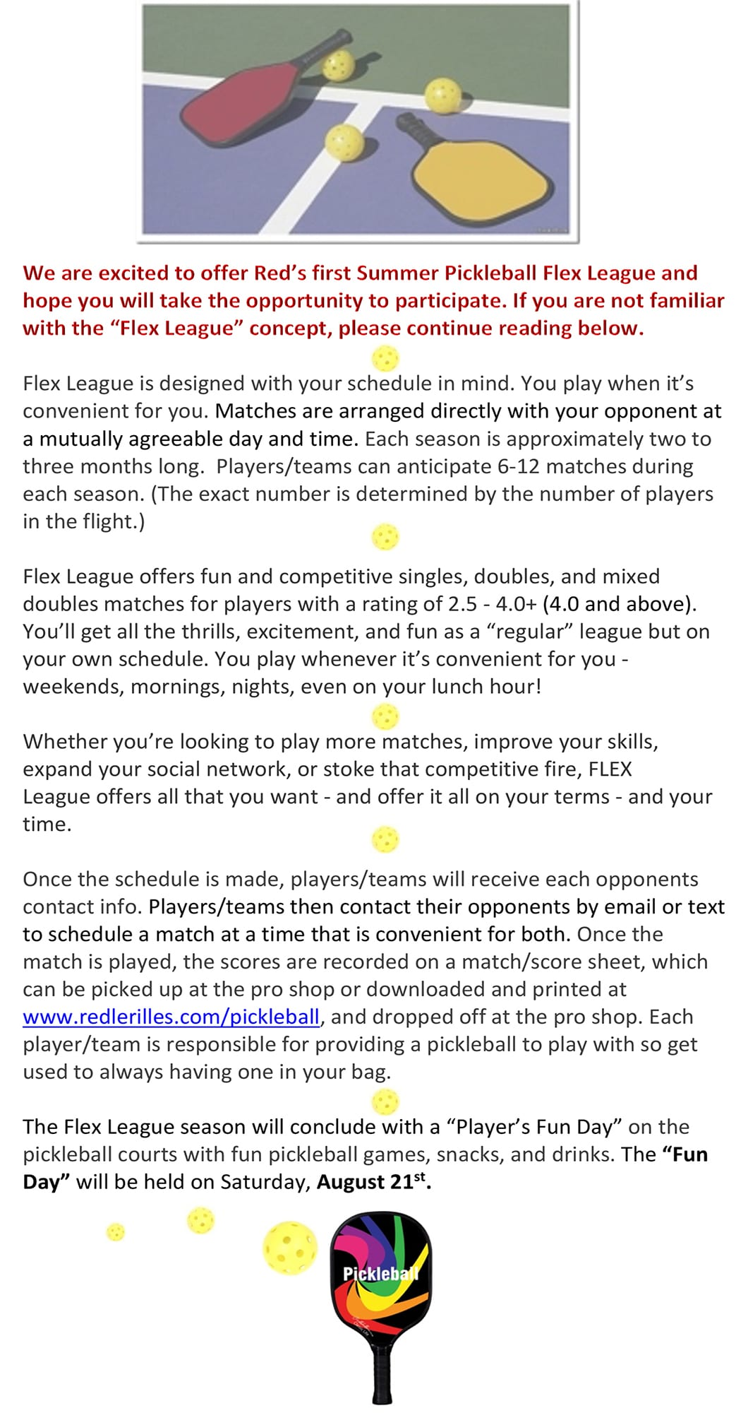 Pickleball Flex League